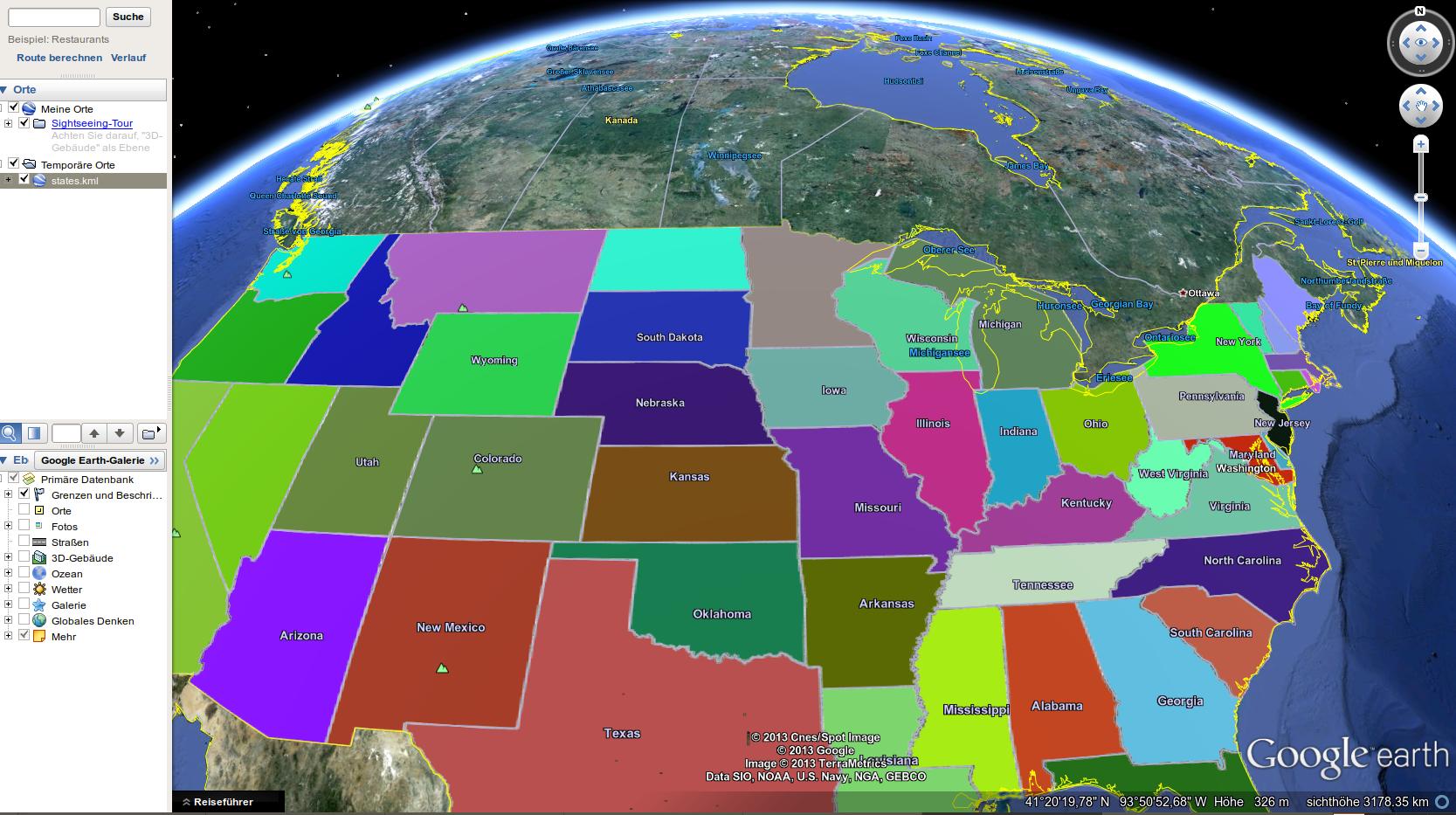Map Of US States As Shapefile KML Svg Vector Data DataShopbiz - Us zip code kml