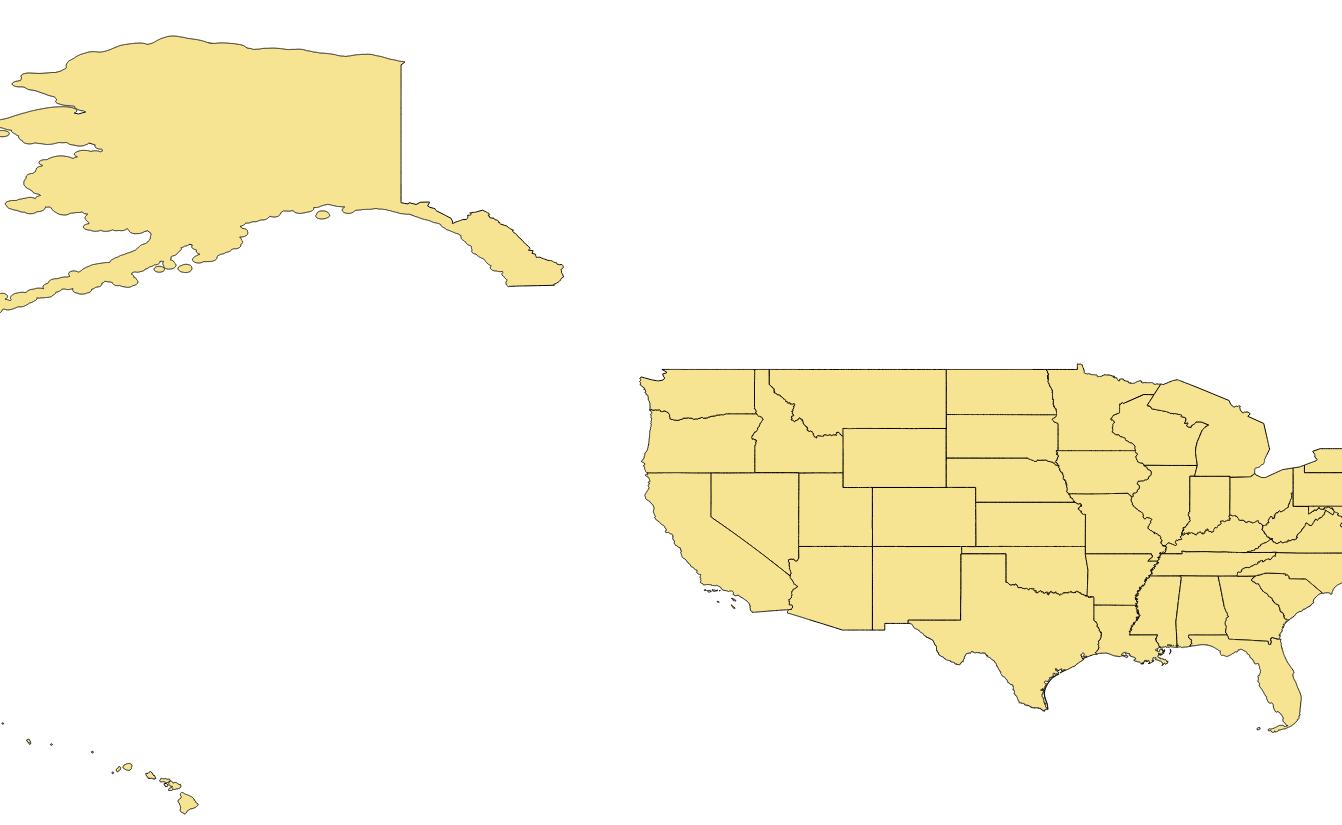 Map Of US States As Shapefile KML Svg Vector Data DataShopbiz - Google maps us states kml