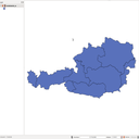 Datensatz Bundesländer in Österreich Shapefile Vorschau