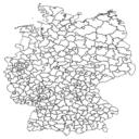 Datensatz Shapefile Landkreise Deutschland Vorschau